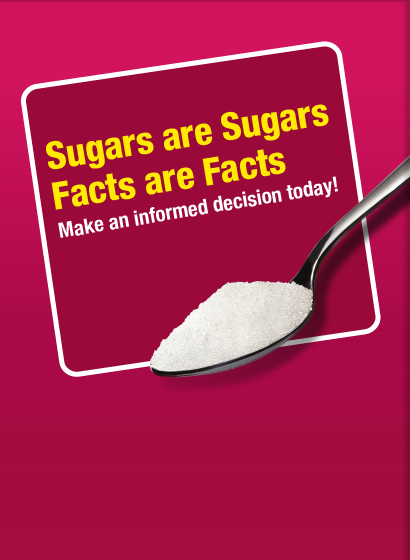 poster new - Sugars are Sugars, Facts are Facts